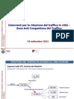 Scenari sviluppo ecopass 2011 Comune di Milano