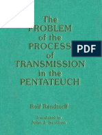 64364166 the Problem of the Process of Transmission in the Pentateuch