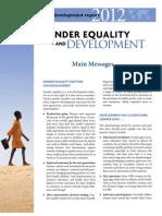 World Development Report 2012 - Main Messages