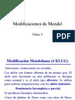 Clase 2 Modificaciones Mendel