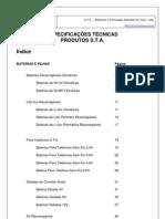 Especificações Técnicas_Especificações Técnicas