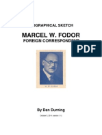 Marcel W. Fodor, Foreign Correspondent