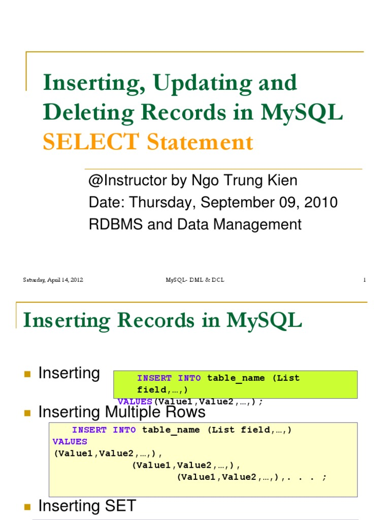 Select Statement S2 Sql Table Database