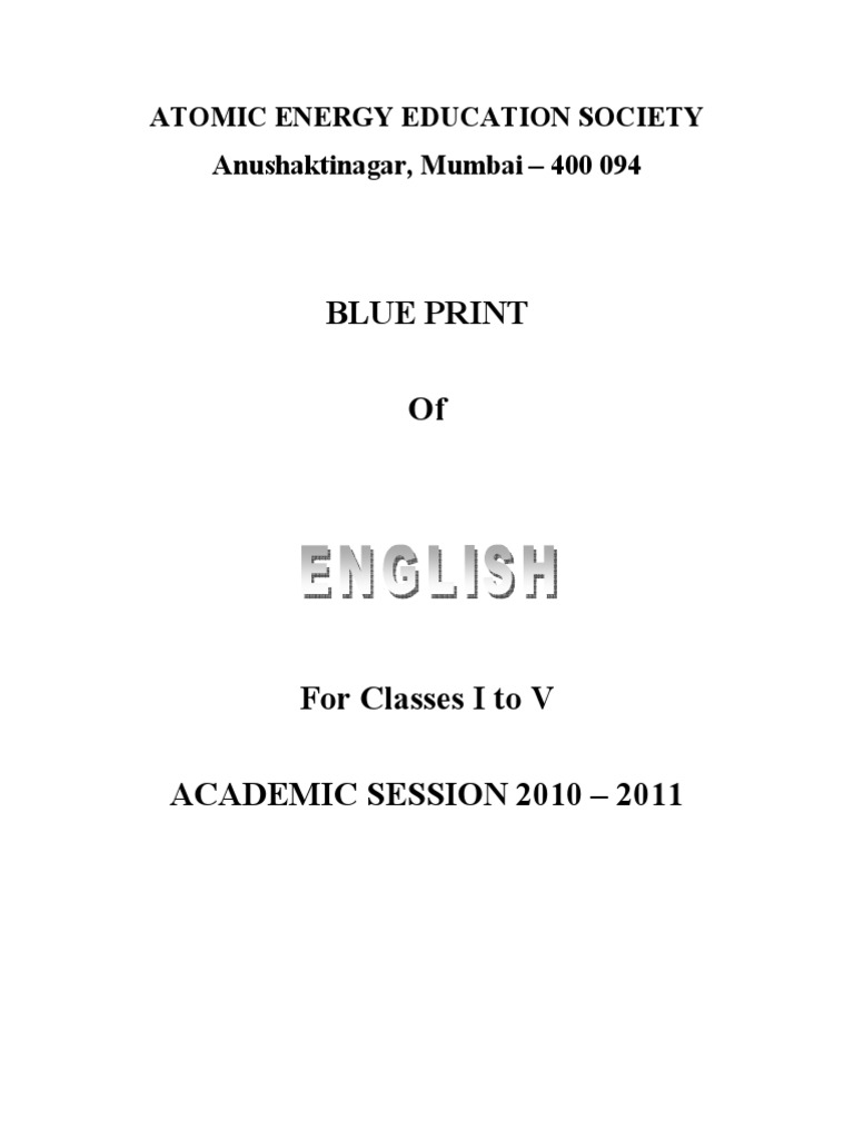 Blue Print for Primary Classes I to V - SA II | Sentence