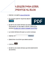 PASOS A SEQUIR PARA SUBIR DOCUMENTOS AL BLOG