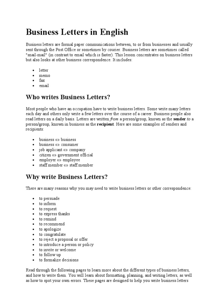 Business letters in english1 mail semiotics thecheapjerseys Images