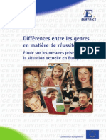 Differences Entre Les Genres Reussite Scolaire