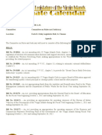 Legislative Calendar (Legislative Session)