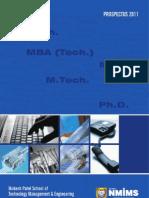 Mpstme Prospectus 2011