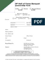 Sponor Reply Form