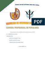Comportamiento de los cachimbos de Psicología del semestre 2011