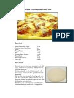 Pizza With Mozzarella and Parma Ham