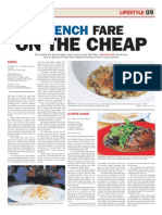Nanyang Chronicle 2011 - French Fare in on the cheap