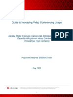 Increasing Video Conferencing Usage Guide