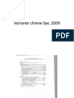 Variante Chimie Bac 2009 Vol 1