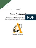 Satzung Alumni Freiburg e.V.