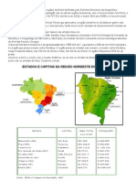 Trabalho Sobre o Nordeste Brasileiro