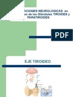 Manifestaciones Neurologicas en Enfermedades de Las Glándulas Tiroides