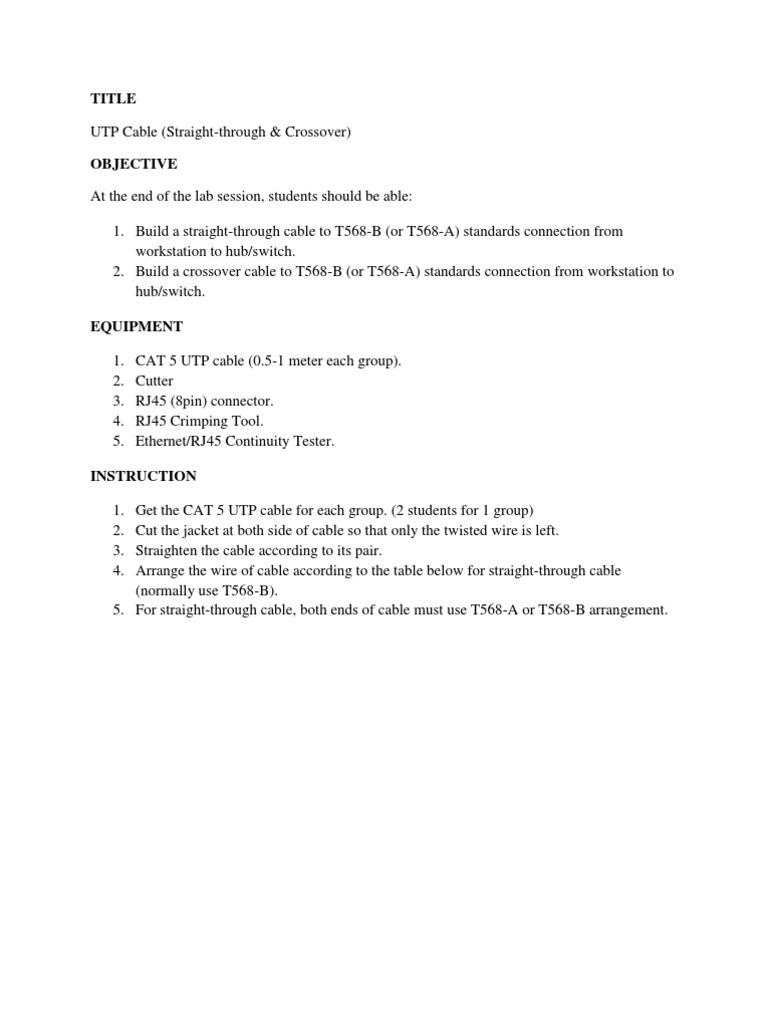 Luxury Instruction Of Ethernet Cable Wiring Diagram Elaboration ...