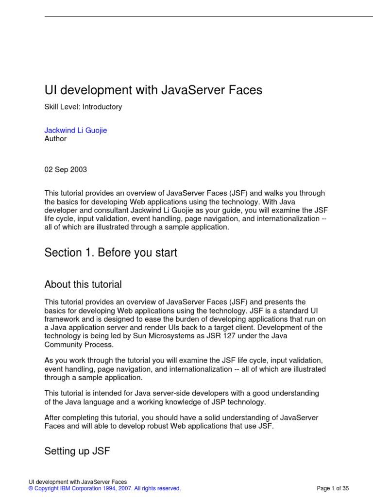 j-jsf-a4 | Java Server Faces | Java Server Pages