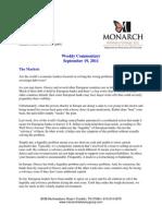 The Monarch Report 9-19-11