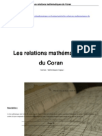 Relations Mathematique Coran