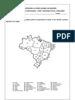 Adjetivos pátrios mapa Brasil