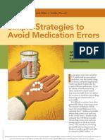 AAFP 2007_Simple Strategies to Avoid Med Error