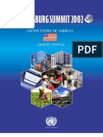 Agenda 21 UN 2002 USA Country Profile