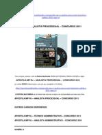 APOSTILA MP RJ  ANALISTA PROCESSUAL  CONCURSO 2011