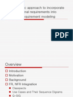 A Systematic Approach to Incorporate Non-functional Requirements Into Functional Requirement Modeling