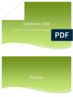 Uninter - CRM - Sesion 11 - Acceso, Preferencias de Usuario e Interface