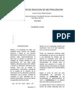 Informe Calor de Reaccion de Neutralizacion Soso