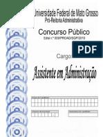 Caderno Médio Técnico (Assistente em Administração)