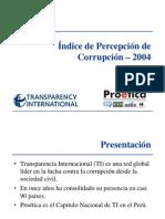 Indice de Percepción de Corrupción 2004