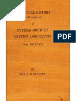 HistoryCypressDisctrictBaptist