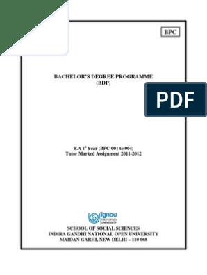 B A  1st year Psychology Assignments | Developmental