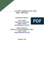Hunter Study on Pedestrian-biker Accidents
