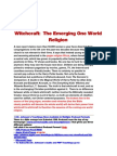 The Emerging One World Religion