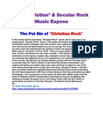 Christian and Secular Rock Music Exposed