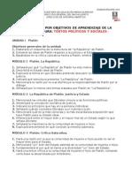 Objetivos Textos Políticos y Sociales I