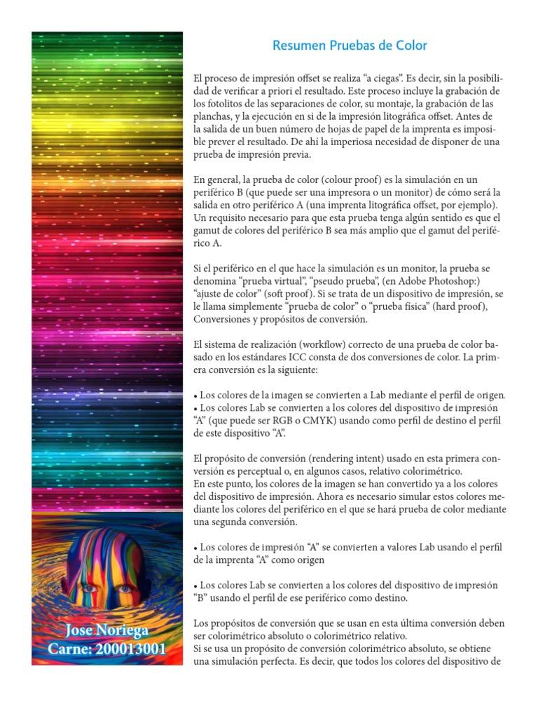 Prueba de Color Resumen