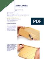 Decoupage - Caixa Com Relevo Incolor