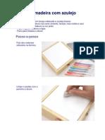 Decoupage - Caixa de Madeira Com Azulejo