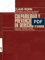Roxin Culpabilidad Prevencion Derecho-penal