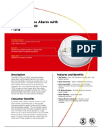 Kidde 1275E Smoke Detector Data Sheet