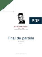 Beckett, Samuel - Final de Partida
