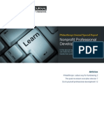 Philanthropy Journal Special Report- Non-Profit Professional Development