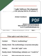 1_Alistair Cockburn_The World of Agile Methods