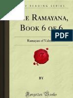 The Ramayana- Book 6 of 6- Ramayan of Valmiki